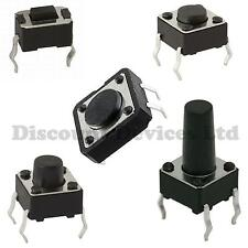 Quality Momentary Tactile Push Button Switch SPST Miniature Mini Micro Small PCB