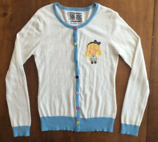 Womens HARAJUKU LOVERS LONG SLEEVE CARDIGAN SWEATER Button Front LARGE
