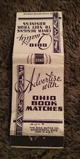 Vintage Matchbook Cover Matchcover Ohio Book Matches Purple Advertisement