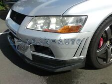 CARBON VARIS FRONT LIP SPLITTER VALANCE FOR MITSUBISHI EVO EVOLUTION 7