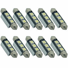 10X 39mm 3 LED 5050 SMD CANBUS Error Free 6418 C5W License Plate Dome Light Bulb