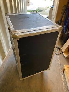"""19"""" mixer rack flight case black. 665mm(d) x 520mm(w) x 900mm(h), 12u for mixer"""
