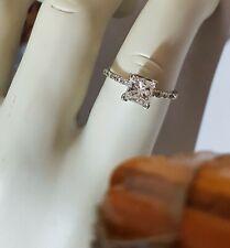1.11 Ctw Princess Diamond Engagement Ring 14K White Gold G VS2-Si1 Size 7