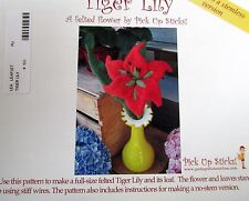 Craft pattern felted wool floral arrangements Lilly hat sunflower iris Diy