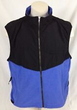 Jagged Edge Mountain Gear Black & Blue Vest Telluride, CO Men's XL Made in USA
