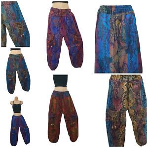 Warm Trouser Boho Plus Size Winter Acrylic Wool Unisex Pockets One Size XL/XXL