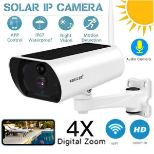Wanscam 1080P 2.0MP Solar Powered WiFi IP Camera Two Way Audio Night Vision Q0Q1
