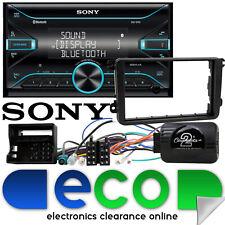 VW Tiguan 2007-16 Sony Double Din Bluetooth MP3 USB Car Stereo & Steering Kit