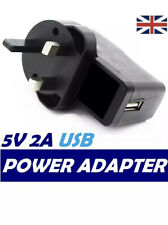 USB Port UK Plug 5V 2A Wall Charger Home Travel AC Power Adapter for iPad iPhone