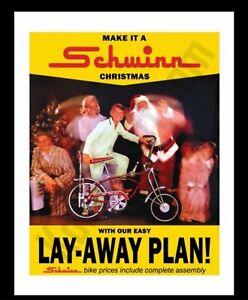 Schwinn Bicycle 1969 Santa Claus Stingray Apple Krate Poster