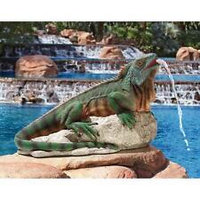 Unique Reptile Lizard Water Spitter Piped Statue Pool Fountain Garden Decor New