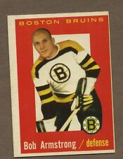 1959-60 Topps Hockey No. 39 Bruins Bob Armstrong Ex-Mt
