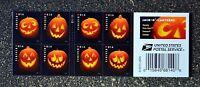 2016USA #5137-5140 Forever - Jack O'Lanterns - Booklet of 20 pumpkin halloween