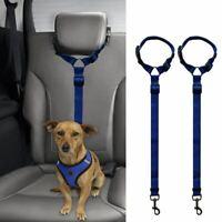 2 Packs Dog Cat Safety Seat Belt Strap Car Headrest Restraint Adjustable Nylo 1H