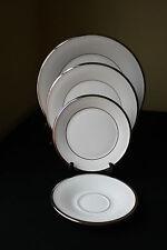 Lenox Fine China Solitaire 4 Piece Lot White Platinum New Mint Condition