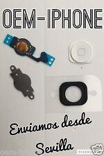 KIT 4 en 1 Boton Home Flex chapa pegatina fijación iPhone 5 BLANCO 100% CALIDAD