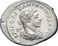 ELAGABALUS 218AD Authentic Ancient Silver Roman Coin SALUS HEALTH i73553