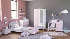 Kinderzimmer Sternschnuppe 5-tlg weiß Mädchen Kinderbett Kleiderschrank Kommoden
