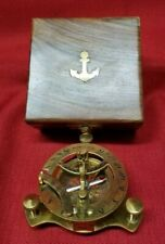 New listing Brass Nautical West London Sundial Compass With Wooden box