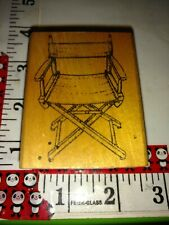Director's chair, good stamps,97,rubber,stamp, wooden