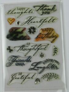 Words & Phrases Themed Cling Stamps S261