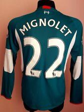 LIVERPOOL 2015 2016 FOOTBALL SHIRT JERSEY NEW BALANCE GOALKEEPER MIGNOLET #22