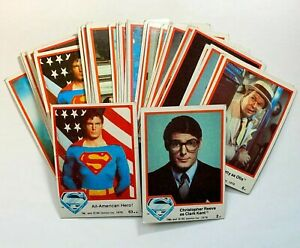 Superman The Movie 1978 Topps DC Card Lot x43 - Poor/Damaged Christopher Reeves