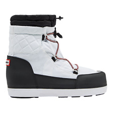 Hunter Women's Original Quilted Snow Boots - White/Black size 8 US 39EU NWT