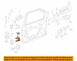 Door Hinge Front Lower LH Chevrolet Trailblazer 09 08 07 06 05 04 GM 88937052 A2