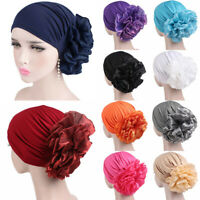 Womens Hair Loss Head Scarf Turban Cap Flower Muslim Cancer Chemo Hat Caps Wrap