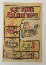 1969 Post Cereals ad page ~ ARCHIE TOYS ~ car, record, jumpin', rub-ons
