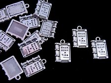 10 Pcs - Tibetan Silver ONCE UPON A TIME Story Book  Charms 17mm Books  N33