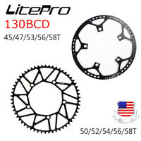 litepro Folding Road Bike Chainring Chain Ring BCD 130mm 45 47 53 56 58T w Guard
