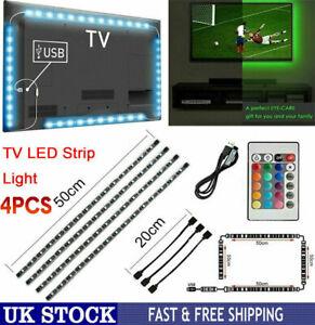4x50cm 5V USB Powered LED Strip Light RGB Multi Color TV Backlight Lighting 5050