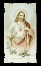 antico santino cromo-holy card ediz.AR n.180 S.CUORE DI GESU'