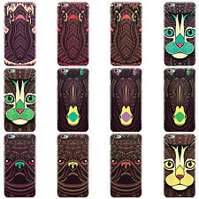 DYEFOR AZTEC ANIMALS HARD CASE COVER FOR APPLE IPHONE MOBILE PHONES