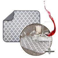 Microfiber Dish Drying Mat Kitchen Sink Drainer Tea Towel Absorbent