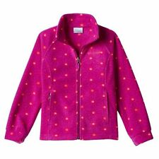 Columbia Girls' Three Lakes Fleece Jacket Bright Plum Stars Size XL (18) NWT
