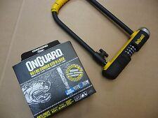 OnGuard 8010c STD U-LOCK Lock D Shackle Combo Combination Security Bike Moped