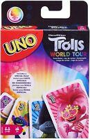 Mattel Uno les Trolls Tournée Édition Famille Amusant Classique Carte Jeu Set