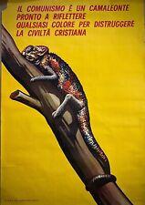 IL COMUNISMO E' UN CAMALEONTE.....-Poster originale - Comitato Civico -1963 -