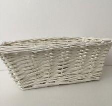 BNWT attraente decorativi Salice Bianco Stile Vintage Cesto di vimini rustico