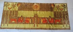 Vintage 1960's retro wall tapestry rug carpet, Mid Century design