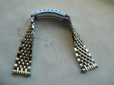 1973 RARE,BEADS OF RICE SPEIDEL BRACELET,10k GF MADE FOR SEIKO QUARTZ,17 mm END