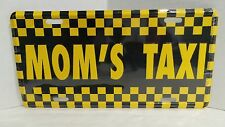 MOM'S TAXI Funny Novelty Embossed License Plate Car Tag