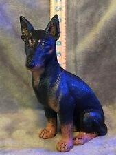 Doberman Pinscher Plaster Dog Statue Hand Cast And Painted By T.C. Schoch