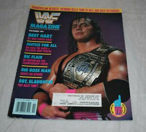 WWF Magazine November 1991 Bret Hart Cover Retro Wrestling Address Tag