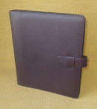 Monarchfolio 1 Rings Burgundy Pebbled Leather Day Timer Open Plannerbinder