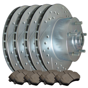 F+R Double Drilled Slotted Zinc Coated Premium Rotors w/Ceramic Pads  ATL017893