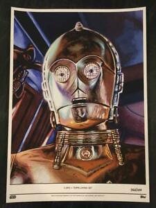 Topps STAR WARS Living Set Fine Art Print #73 C3PO - SOLD OUT - Numbered 52/100